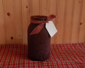 Quart grunge mason jar