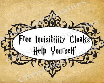 Harry Potter ~ Free Invisibility Cloaks ~ Instant Download