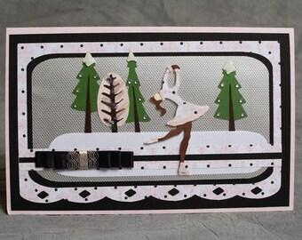 Handmade Winter Skater Card