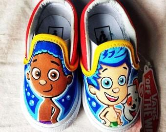 Bubble Guppies Shoes Painted Infant/Children's Vans/Canvas