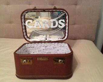 Wedding card case, wedding card box, weddings card box wedding suitcases, anniversary, shabby chic