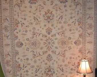 Stunning Oushak rug 100% hand spun wool hand knotted 8 x 10
