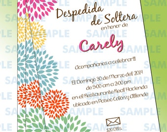 Bridal Shower Invitation,Blossom invitations,Boho invitations,Floral invitations,Shower invitations,Birthday invitations,Floral