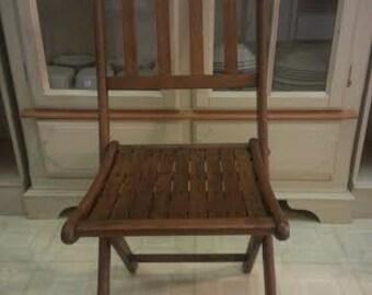 1893 Antique Folding Chair
