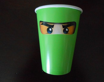 30 small Printed Ninjago Eyes for Cups and other small decorations, Stickers, 30 Eyes