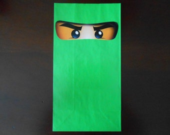 8 Printed Ninjago eyes for balloons, goody bags or gift boxes, stickers