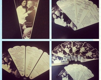 Custom fan style wedding/funeral programs