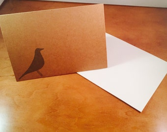 Eames Bird Inspired Blank Greeting Card - Craft Paper