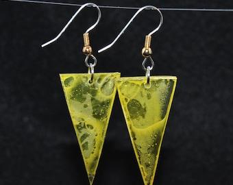 Triangular earrings, series