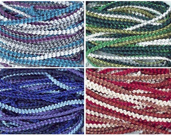 3mm Knobbly Braid, 10m pack - all colours.