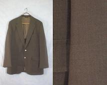 55%OFF July25-28 mens brown blazer size 44R. 60s blazer. worsted wool blazer. mens blazer. mens jacket. mens sport coat. mens 44R blazer