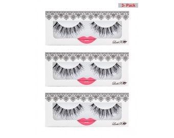 Premium False Eyelashes_LashXO Wispy Chic False Lashes 3Pk, beautiful high quality lashes_Compare to Make Up For Ever, MAC, Sephora