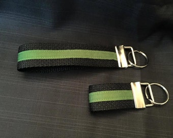 Thin Green Line Key chain