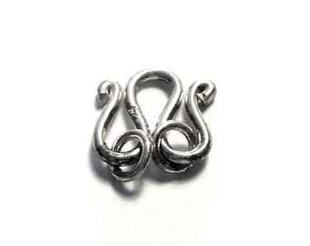 silver 925 clasp PF3-030. M-shaped clasp