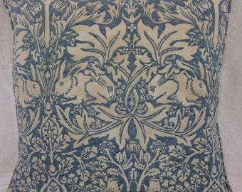 "William Morris Brer Rabbit 202 Slate Vellum Cushion Covers 16""x16"" &16""x12"""