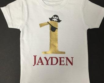 Pirate 1st Birthday Shirt