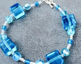 Cubed Turquoise Bracelet