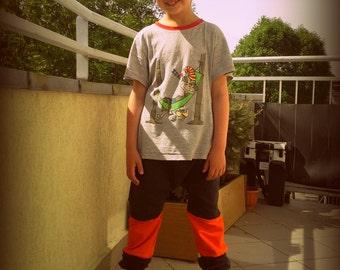 baggy orange pants