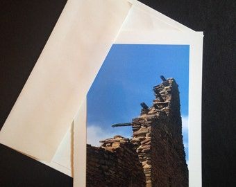 Photo Greeting Card Chaco Canyon Series: Pueblo Bonito