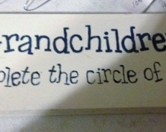 Grandchildren Wooden Sign