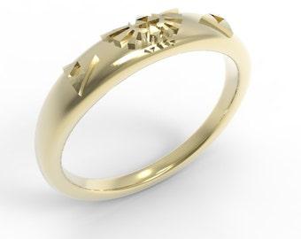 zelda triforce engagement ring 14k gold - Zelda Wedding Ring