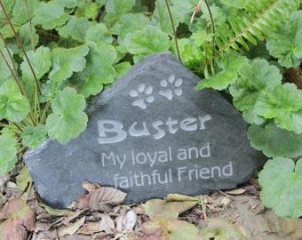 Medium pet memorial stone - My loyal and faithful friend