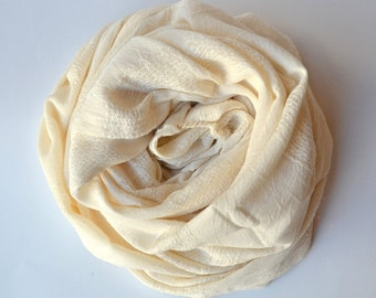 TURKISH TOWEL - BAMBOO bath towel / - Peshtemal / Hammam Towel / Turkish Bath Mat / Turkish Bath Towel / Baby Blanket / Ecru