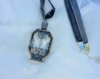 Perfume Bottle Pendant Necklace