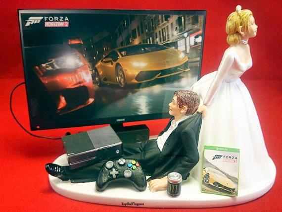 xbox one wedding cake topper items similar to gamer wedding cake topper forza and 27674