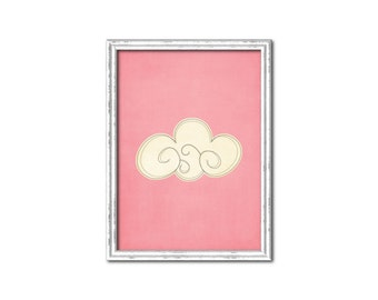Pink with Cloud Nursery Print-Millie Collection