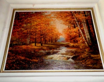 """Robert Wood Signed Painting Reproduction of """"AUTUMN IN WOODSTOCK"""""""