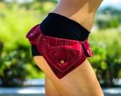 Non-Leather Adjustable Utility Belt ~ Festival Hip Belt Bag ~ Burning Man Utility Belt
