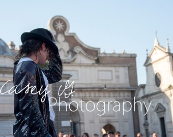 Michael Jackson Street Performer 2 - Italian Street Phtoography Print and Canvas