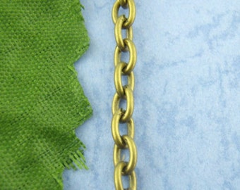 Antiqued Bronze Cable Chain   3mm x 4mm   CH1011