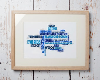 Dorset Word Map - Print only (12 x 8)