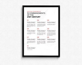 Dan le Sac Vs Scroobius Pip - Custom Minimal Modern Art Music Typography Poster Print Abstract