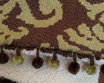 Luxury Sage Green and Brown Throw Blanket