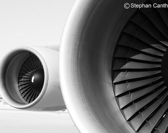 LAX 10, Airport, Airplane Engines, Los Angeles, Photography, Home Decor