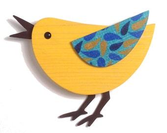 Happy Singing Modern Bird Wall Decor