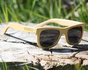 Handmade Wood Sunglasses | Bamboo | Wayfarer Wooden Sunglasses | Mens Sunglasses | Womens Sunglasses | Polarised | Small