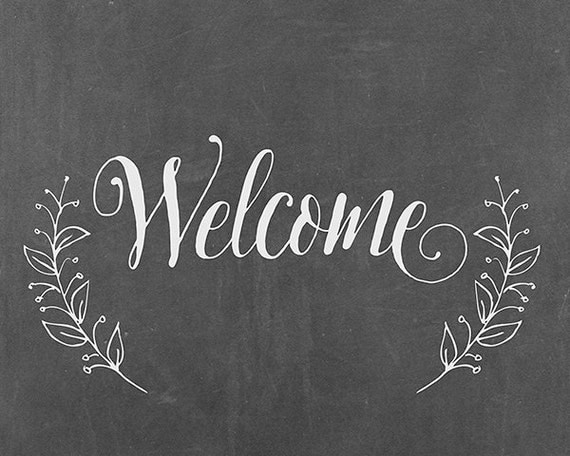 Mesmerizing image in printable welcome sign
