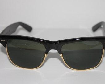 Vintage NOS B&L Ray Ban Wayfarer Max Black W1269 Sunglasses USA