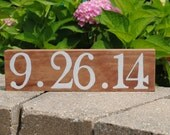 Wedding date sign / Save the date sign / Special date sign / Baby's birthday / Anniversary gift / Wedding gift