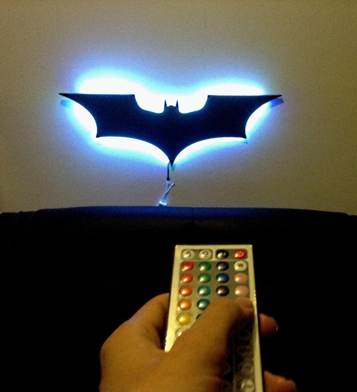 Remote Controlled Led Batman Dark Knight By Digitalwalldesigns
