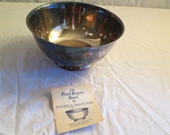 Paul Revere Bowl, Silver Plated
