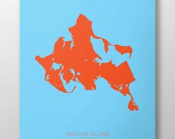 """Shelter Island, NY 14"""" x 20"""" Print"""