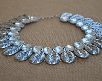 crystal Crew neck statement necklace