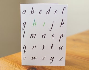 "Alphabet ""Hi"" 
