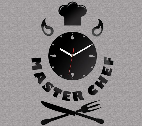 Wall Clock Kitchen Clock MASTERCHEF modern clock gift wall