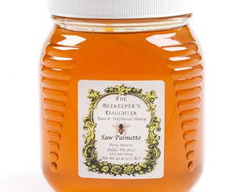 Raw Saw Palmetto Honey - 2.5 lb Jar
